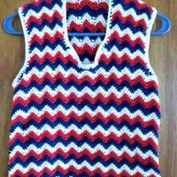 Red White and Blue Patriotic Chevron Tank, Tank Top, Top, Summer Top