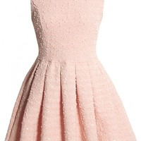 Chic Pleated Sleeveless Princess A-Line Dress - OASAP.com