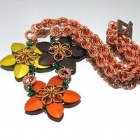 Rustic Bouquet Chainmaille Necklace