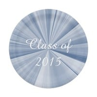 Class of 2015 Blue Paper Plates by Janz 7 inch