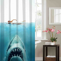 Shark Jaws Shower Curtain