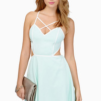 You Wish Skater Dress - Black & Ivory or Mint & Ivory Cutout Skater Dress