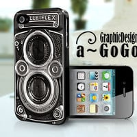 Iphone 4/4s case, Vintage Camera design, custom cell phone case