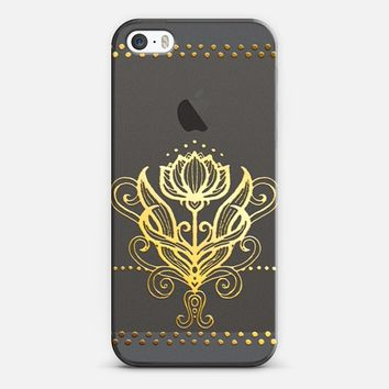 Golden Lily on Crystal Transparent iPhone 6 case by Micklyn Le Feuvre | Casetify