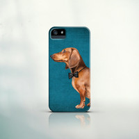 iPhone 6 Cover, iPhone 6 Plus, iPhone 5 Case, iPhone 4 Case, Galaxy S5, Galaxy S4 Case - Dachshund portrait - dog, pet, funny, elegant, love