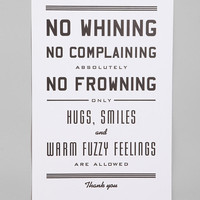Hammerpress No Whining Print