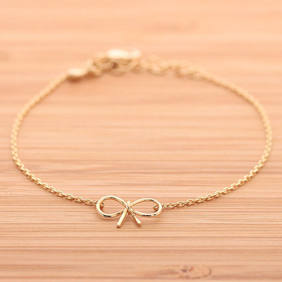 RIBBON bracelet, in gold