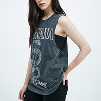 Nirvana Serpent Tank in Grey - Urban Outfitters