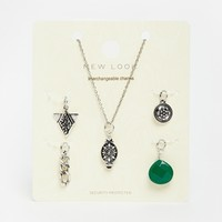 New Look Interchangable Charm Necklace