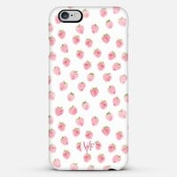 Watercolor Strawberries iPhone 6 Plus case by wonder forest | Casetify