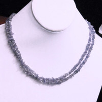 SALE  Natural Tanzanite Necklace Genuine Gemstone with Silver Bali Clasp December Birthstone/Gemstone Necklace 17 inches Long