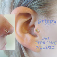 The Siren Collection Right-Side Siren Tragus Cuff silver wire mermaid nose cuff ear cuff