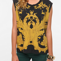 Truly Madly Deeply Baroque Scroll Muscle Tank
