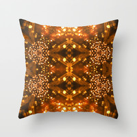 Christmas Goes Gold Throw Pillow by Louisa Catharine Design