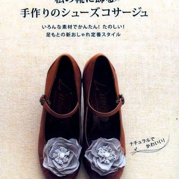 Shoes Corsage Pattern - Japanese Craft Book - Kawaii Shoes Flower Accessories - B591