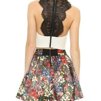 Wolla Lace Back Crop Top