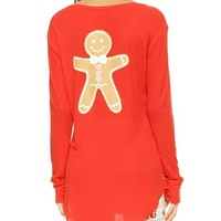 Snowed In Gingerbread Man Sleep Shirt