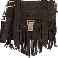 Proenza Schouler - The PS1 Pouch small fringed suede shoulder bag