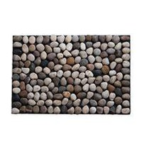 pebble floor mat - natural - a modern, contemporary floor mat from chiasso