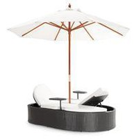 milazzo double lounge w/ umbrella - a modern, contemporary outdoor lounge from chiasso