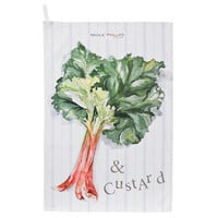 Rhubarb And Custard Tea Towel