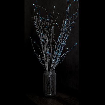 Glow in the dark branches,  painted twigs, glowing home decor, wedding decoration, bedroom lighting, Christmas decor, glow in the dark party