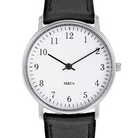 Black Bodoni Stainless Steel Watch by M&Co - Pop! Gift Boutique