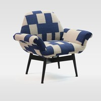 Orly Dhurrie-Upholstered Chair