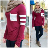 The Tailgating Top - Burgundy - BURGUNDY /