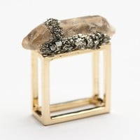 Marly Moretti Womens Quartz Square Ring
