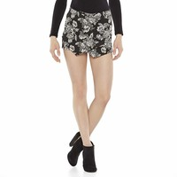Asymmetrical Jacquard Floral Skort from S.o. R.a.d. Collection by Awesomeness TV - Juniors