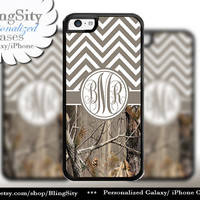 Brown Chevron Monogram iPhone 5C 6 Case Plus iPhone 5s 4 Ipod 4 5 Touch case Real Tree Camo Zig Zag Personalized Country Girl