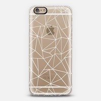 Abstraction Outline White Transparent iPhone 6 case by Project M | Casetify