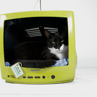 Upcycled Television Pet Bed by AtomicAttic on Etsy