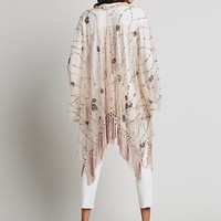 Free People Shimmy Sequin Ruana