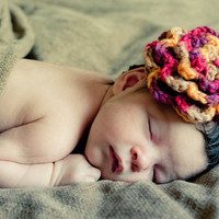 Autumn Colors Baby Flower Headband - Photo Prop