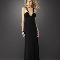 Black Long Hot Cheap Evening Dresses - Basadress.com