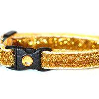 Glitter Cat Collar - Glitzy Gold - Kitten / Small Cat Size