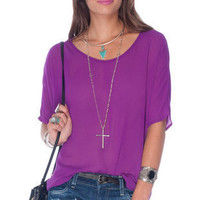 Tied Together Chiffon Top $38