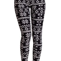 Woman Winter Holiday Pattern Leggings, Multiple Color Patterns Available