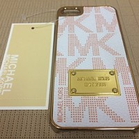 Michael Kors MK iPhone 5/5s Case in White and Gold