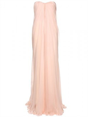 Column Strapless Sweetheart Chiffon Long Prom Dress PD1952