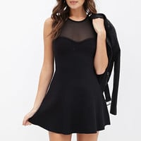 Illusion Sweetheart Dress