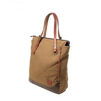 Utility daily canvas laptop tote bags with leather handles from Vintage rugged canvas bags