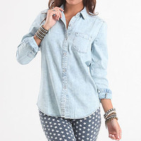 Acid Wash Chambray Shirt