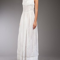 Bolongaro Trevor Maxi Dress - Black White Denim - farfetch.com