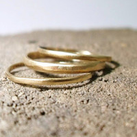 Triple Brass Stacking Rings