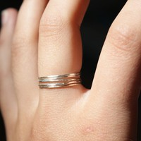 Sterling silver stacking rings set of 5