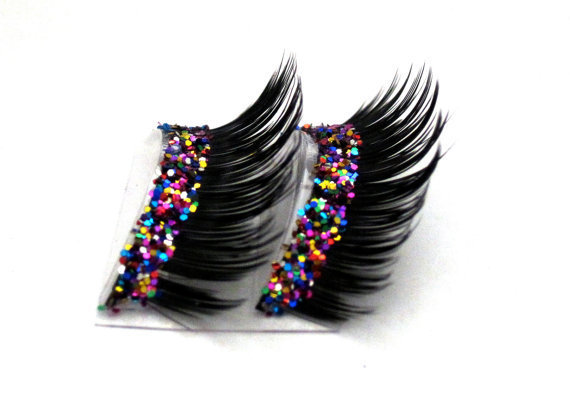 Dramatic Party Mix Glitter Faux Eyelashes