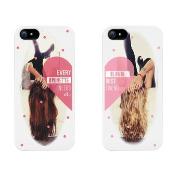 Every Brunette Needs a Blonde Best Friend BFF Phone Cases for iphone 4, iphone 5, iphone 5C, iphone 6, iphone 6 plus, Galaxy S3, Galaxy S4, Galaxy S5, HTC M8, LG G3